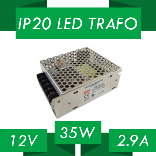 IP20 LED trafo 12V 35W