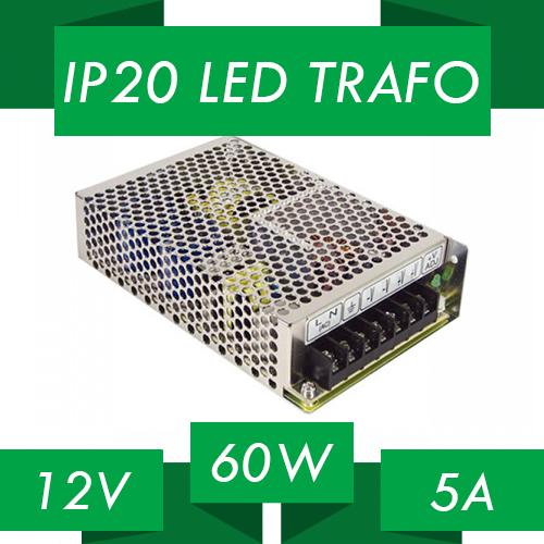 LED trafo IP20 12V 60W